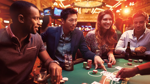 Group playing Blackjack at the Ameristar Casino Black Hawk